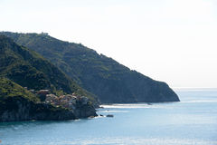 Manarola of Cinque Terre, Italy. On a sunny day Stock Image