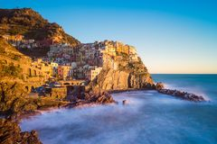 Manarola in Cinque Terre, Italy royalty free stock photography