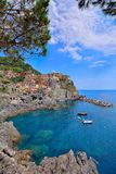 Manarola is a beautiful small town in the province of La Spezia, Liguria, north of Italy and one of the five Cinque terre royalty free stock photo
