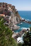Manarola Cinque Terre, Liguria, Italien Arkivbild