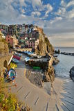 Manarola Cinque terre Liguria italy Fotografering för Bildbyråer