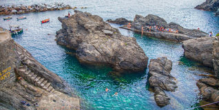 Manarola, Cinque Terre, Liguria, Italy - The Cove Stock Photo