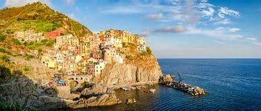 Manarola Cinque Terre (Liguria Italy) High definition panorama Stock Photos