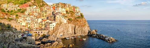 Manarola Cinque Terre (Liguria Włochy) zdjęcia stock