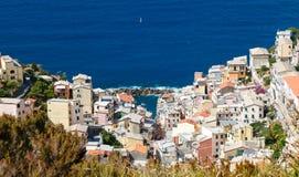 Manarola, Cinque Terre, Ligurien, Italien stockfotos