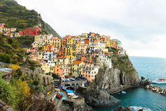 Manarola, Cinque Terre, Ligurien, Italien lizenzfreies stockfoto