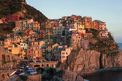 Manarola in Cinque Terre region in Italy Stock Photo