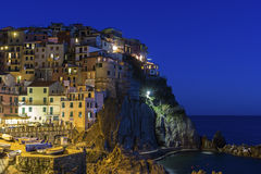 Manarola in Cinque Terre region in Italy Royalty Free Stock Image