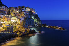 Manarola in Cinque Terre region in Italy Stock Photography