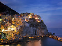 Manarola, Cinque Terre. September evening. Stock Images