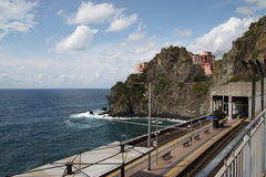 Manarola Cinque Terre Train Station Royalty Free Stock Photography