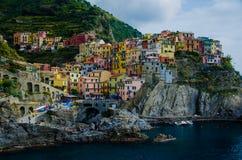 Manarola, Cinque Terre, Włochy obrazy royalty free