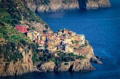 Manarola (Cinque Terre Włochy) obraz royalty free