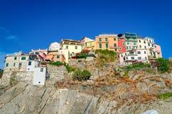 Manarola, Cinque Terre (włoszczyzna Riviera, Liguria,) obraz royalty free