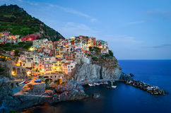 Manarola, Cinque Terre (włoszczyzna Riviera, Liguria,) fotografia stock