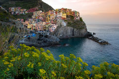 Manarola in Cinque Terrece Royalty Free Stock Photos