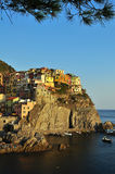 Manarola - Cinqueterre - at sunset Royalty Free Stock Images