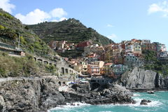 Manarola City Royalty Free Stock Photography