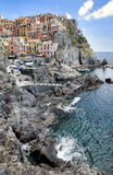 Manarola city scape in Cinque Terre Royalty Free Stock Photo