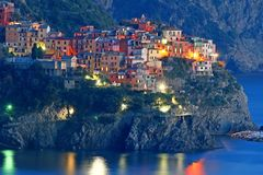 Manarola from Corniglia Royalty Free Stock Images
