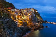 Manarola em Cinque Terre - Itália fotos de stock royalty free