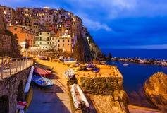 Manarola en Cinque Terre - l'Italie Image libre de droits