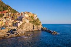 Manarola en el La Spezia, Italia Imagen de archivo
