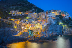 Manarola fisherman village in Cinque Terre Stock Photos