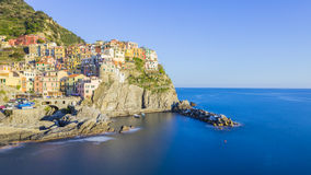 Manarola fisherman village in Cinque Terre, Italy Royalty Free Stock Photo
