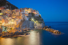 Manarola fisherman village in Cinque Terre, Italy Royalty Free Stock Photos