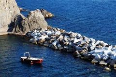Manarola harbor, Cinque Terre, Italy Royalty Free Stock Images