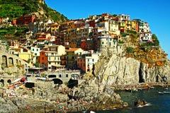 Manarola Italie Photos libres de droits
