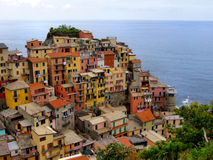 Manarola, Italy. A view of Manarola, one of the five villages of the Cinque Terre on Italy's mediterranean coast Stock Photography
