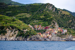 Manarola. Italy: The Terrace and The Sea royalty free stock image