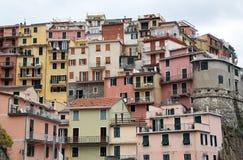 Manarola, jeden Cinque Terre wioski, Włochy Obraz Stock