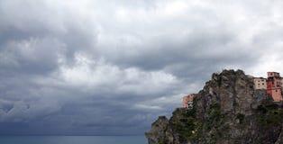 Manarola, jeden Cinque Terre wioski, Włochy Obrazy Royalty Free