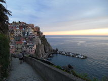 Manarola. June 2016, best place to holiday Stock Photography