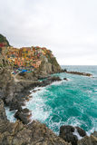 Manarola landscape stunning ocean view, Cinque terre, Italy Royalty Free Stock Photo