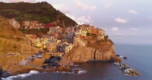 Manarola Luchtmening stock video