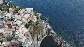 Manarola miasto Cinca Terre Włochy zbiory
