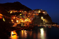 Manarola at night Stock Photo