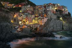 Manarola at Night Stock Photos