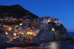 Manarola at night Royalty Free Stock Photos