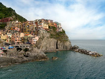 Manarola, one of the Cinque Terre villages in Liguria. Royalty Free Stock Images