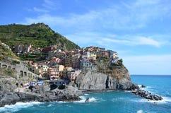 Manarola panorama in Cinque Terre. Unesco world heritage. Sea coast. Manarola. Liguria. Italy. Manarola panorama cinque terre unesco world heritage sea coast royalty free stock photography