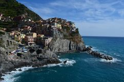 Manarola panorama in Cinque Terre. Unesco world heritage. Sea coast. Manarola. Liguria. Italy. Manarola panorama cinque terre unesco world heritage sea coast stock photos