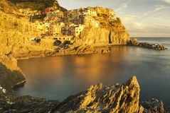 Manarola panorama in high resolution Royalty Free Stock Photos