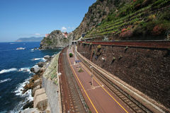 Manarola railway Stock Photography
