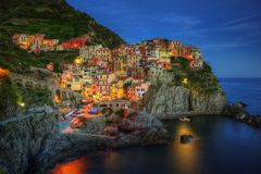 Manarola Scenic Viewpoint royalty free stock images