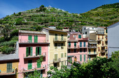 Manarola small village in Cinque Terre, Italy royalty free stock image